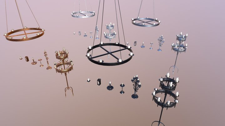 Candle Lighting Pack - The Marquis Collection 3D Model