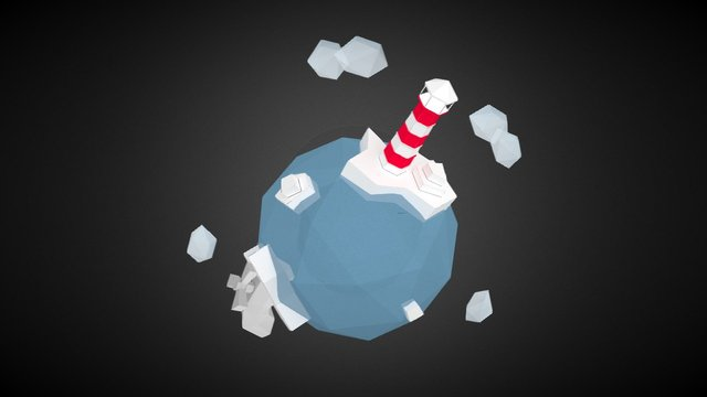 Lowpoly planet - I have a spare tap! 3D Model
