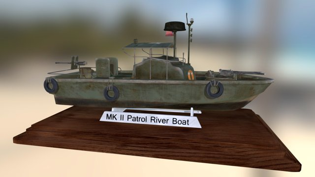 MK II Patrol River Boat 3D Model
