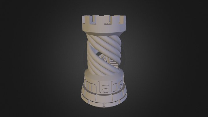 Twisted Rook 3D Model
