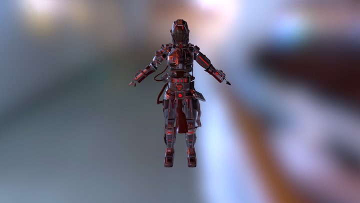 Final Armor With Cloth 3D Model