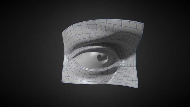 Michelangelo David's Eye  3D Model