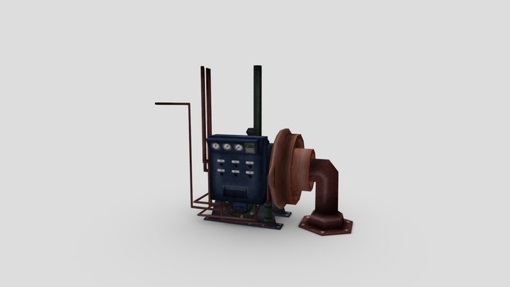 Low-pol Furnace 3D Model