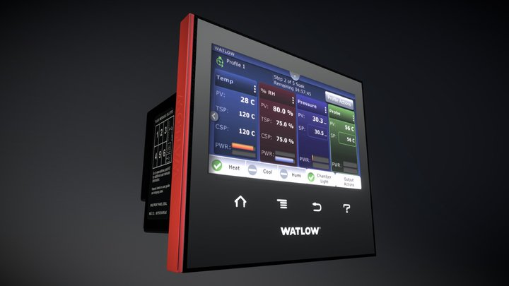Watlow F4T with INTUITION® Process Controller 3D Model