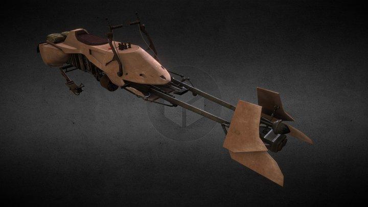 Speeder bike 3D Model