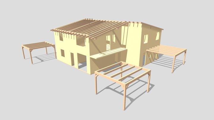 Edificio in xlam tri-famigliare ad Ancona 3D Model