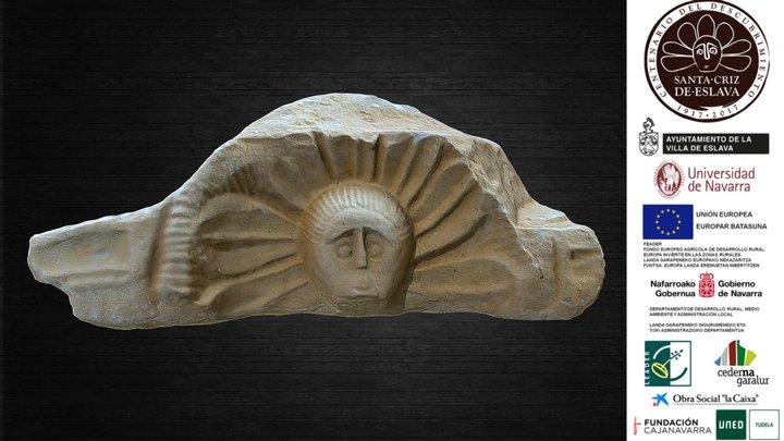 Pulvino con representación astral, siglo I d. C. 3D Model