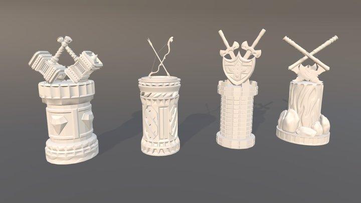 Peões 3D Model