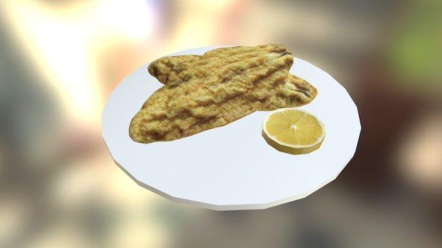 Seafood Meal 3D Model