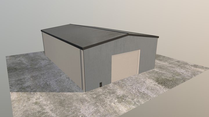 Industrial Building 40x60x16 3D Model