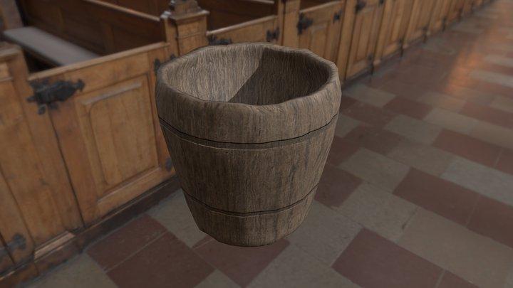 Wooden Cup 01 3D Model
