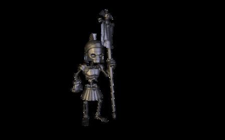 Roman Skeleton 3D Model