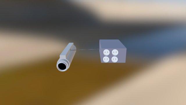 Water Pipe Electricity Generator 3D Model