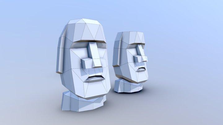 Head Moai 3D Model