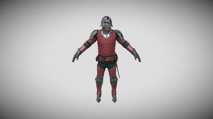 TAB Medieval Knight - 6A - Skin-2 3D Model