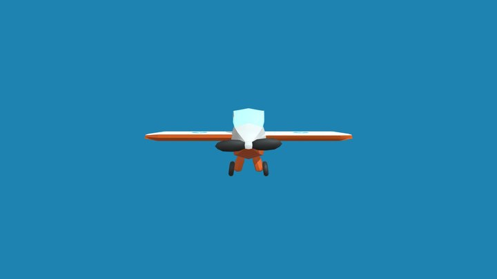 Simple Low-Poly Smooth Airplane 3D Model