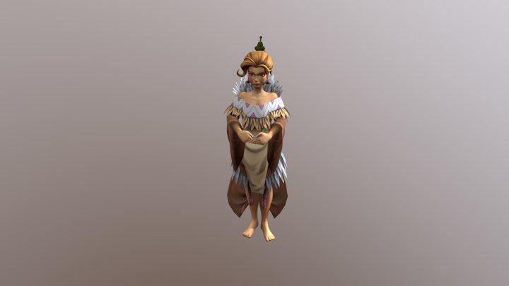 Wahine 001 3D Model