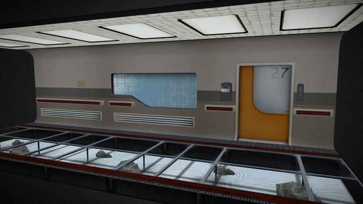 Scifi Hospital 3D Model