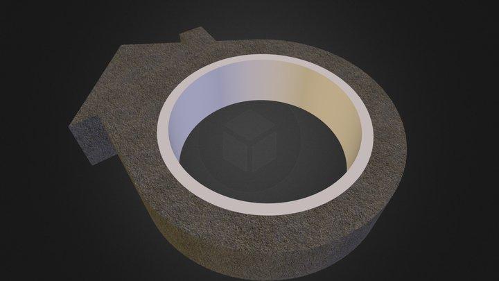 DIY Concrete House Ring - Saltbox Roof 3D Model