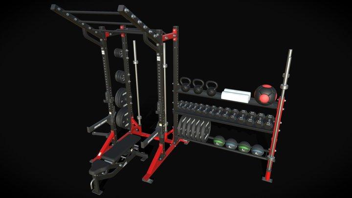 Life Fitness Half Rack 3D Model