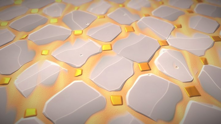 Desert Temple Floor - Stylized Substance 3D Model