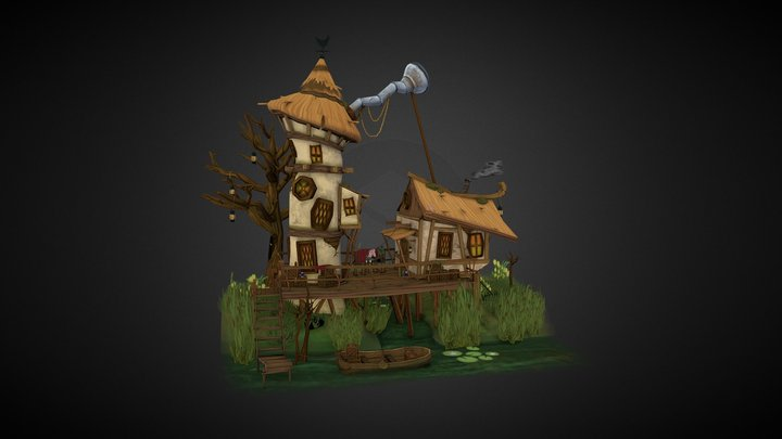 A Scientist's Swamp House 3D Model