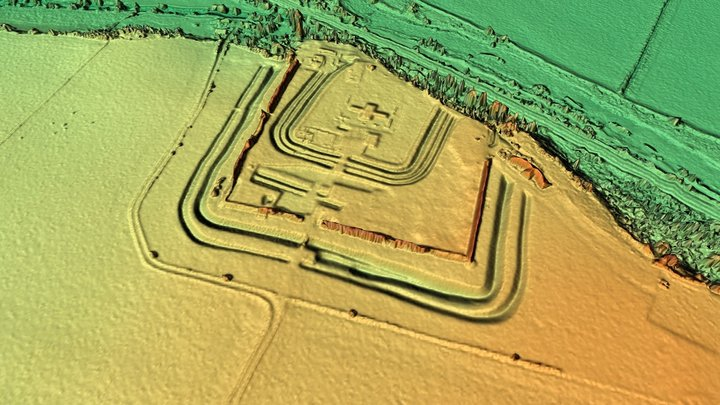 Richborough Fort 3D Model
