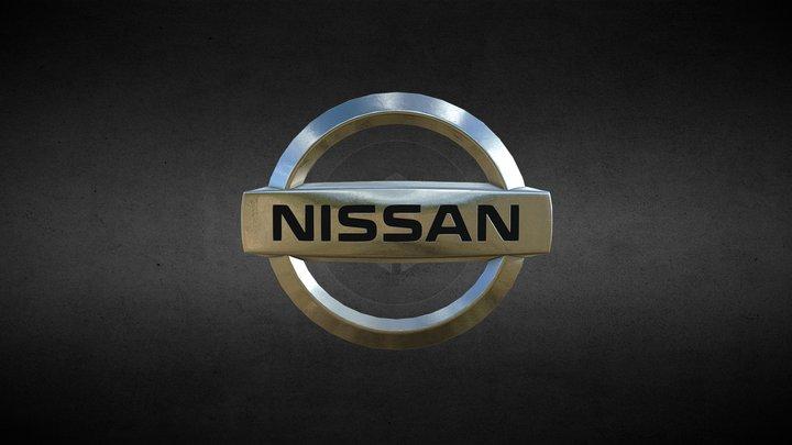 Nissan Motor Company Logo 3D Model