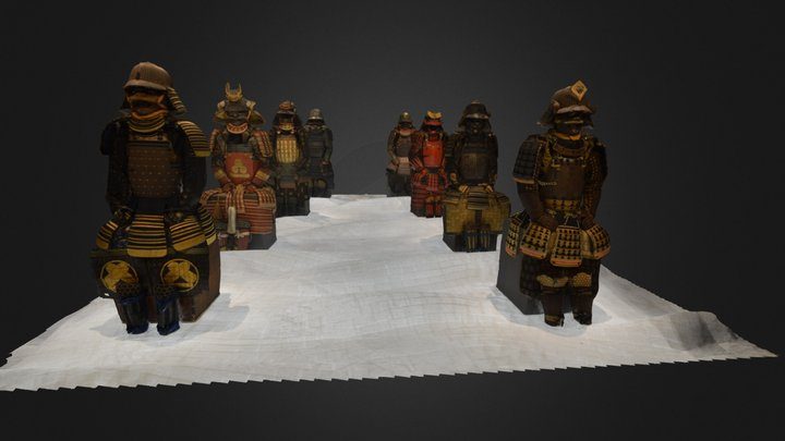 samourais expo nantes 3D Model