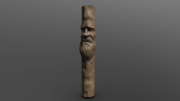 Elder wood carving 3D Model