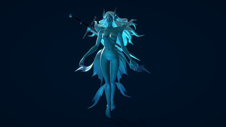Lady of the Lake 3D Model