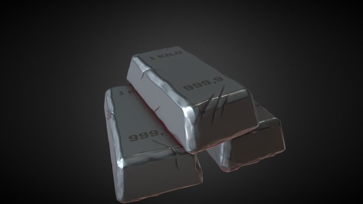 Iron Ignot 3D Model