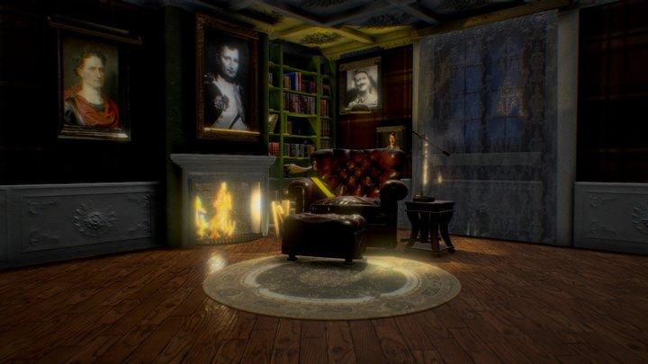 The room for Ruler Of The World 3D Model