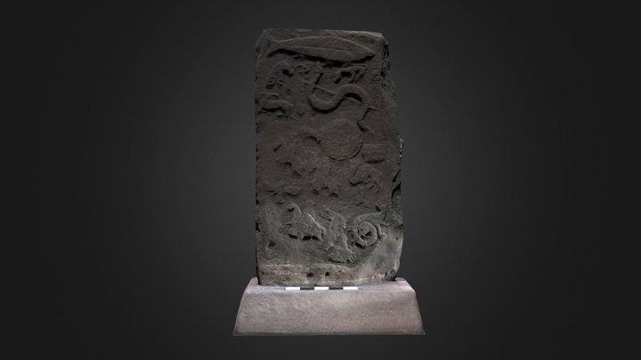 Pictish Slab (later re-use) Meigle Museum, Angus 3D Model