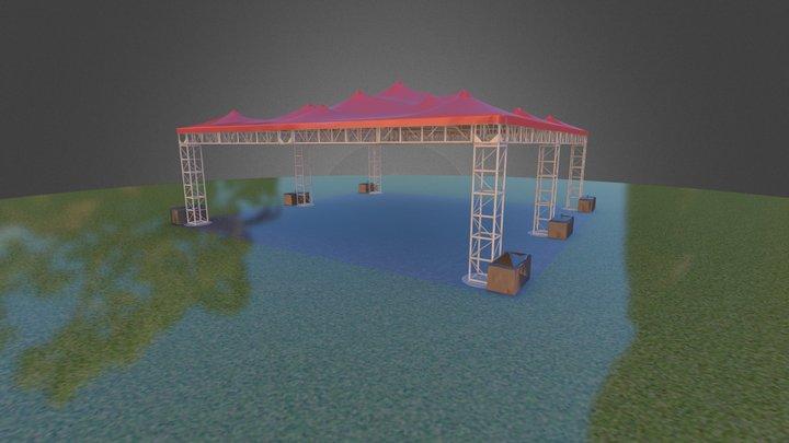 Truss Tent 3D Model
