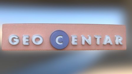 Geocentar logo 3D Model