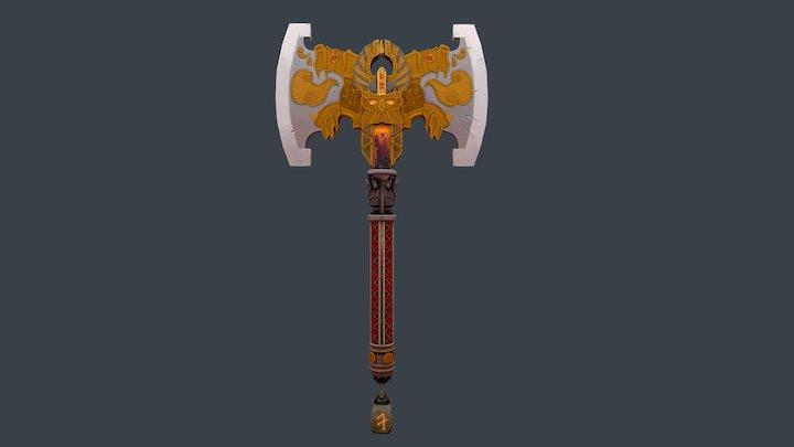 Dwarf King Axe 3D Model