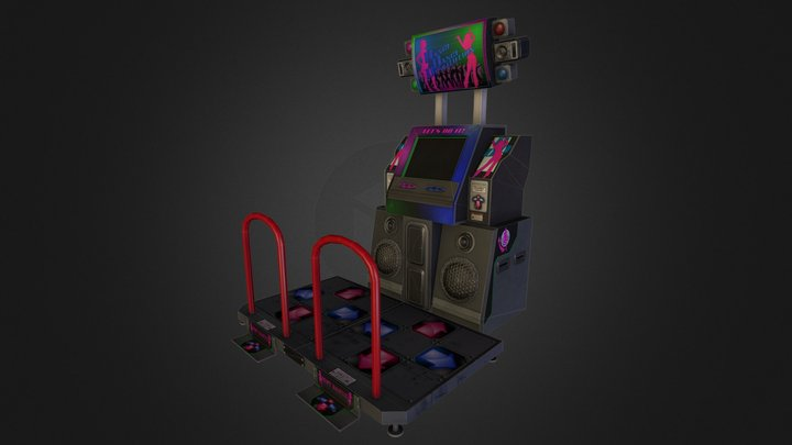 Dance Arcade Machine 3D Model