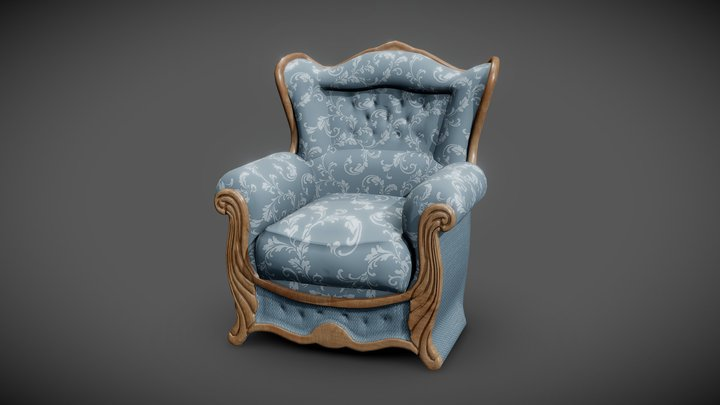 Armchair Patricia 3D Model
