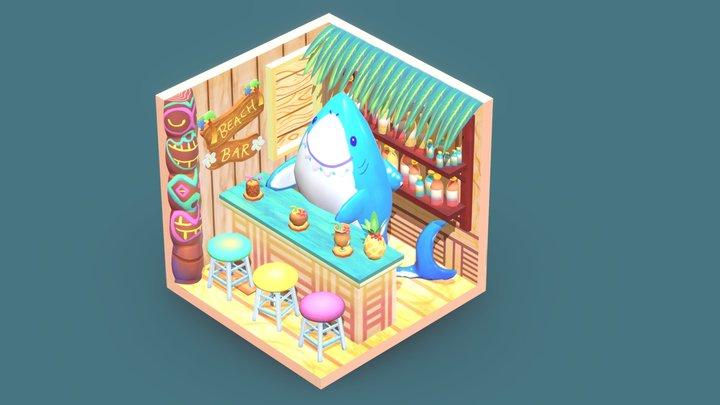 Sharky's Beach Bar (concept by Aly S. & G. Kang) 3D Model