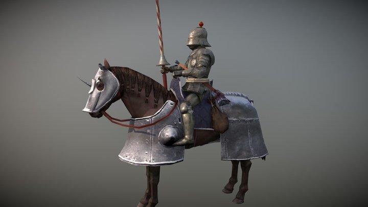"French ""Gendarme"" Elite Cavalry 3D Model"
