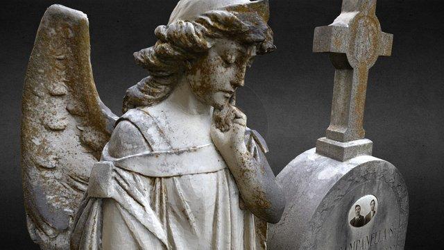 cemetery angel - campanella 3D Model
