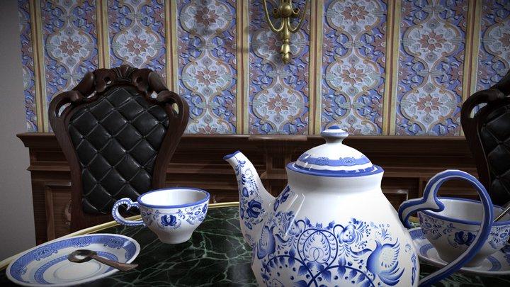 Victorian Tea Party 3D Model