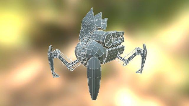 Quadruped Robot - Low Poly ver. 3D Model
