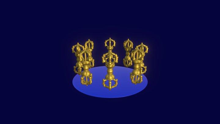 Horizontal Rotating Vajra 3D Model