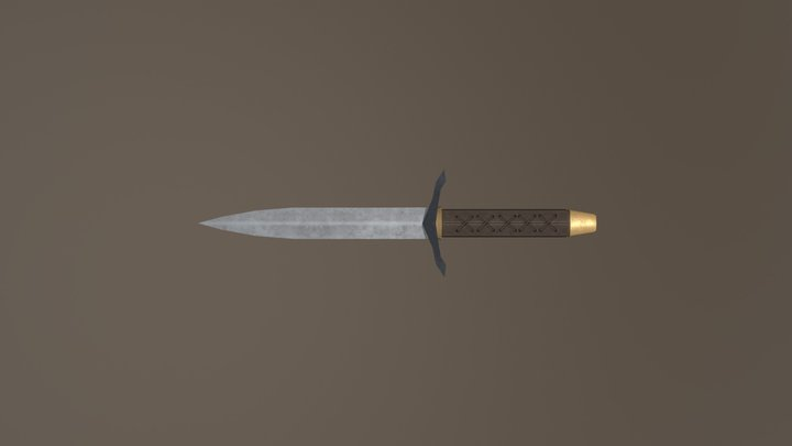 Swadian Throwing Dagger 3D Model