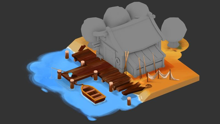 Fisherman Pier 3D Model