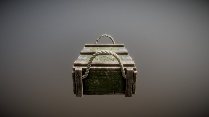 Ammo Crate Low 3D Model