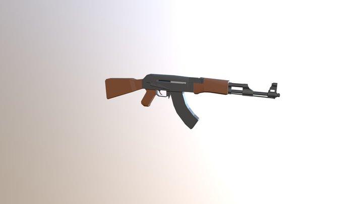 Ak-47low poly 3D Model