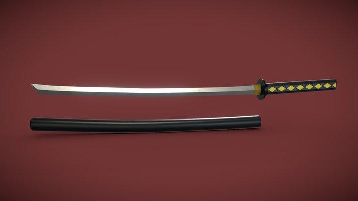 Samurai Jack Sword 3D Model